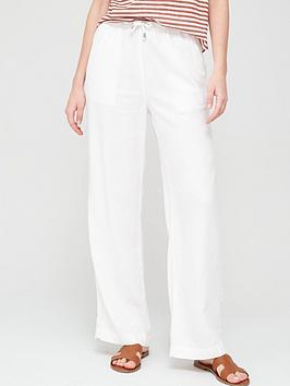 V by Very V By Very Linen Mix Trouser - White Picture