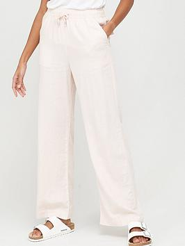 V by Very V By Very Linen Mix Trouser - Pink Picture