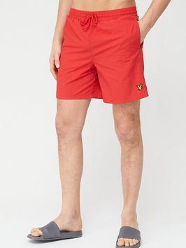 lyle-scott-plain-swimshort-red