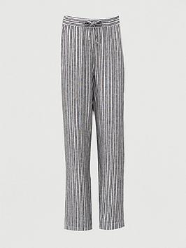 V by Very V By Very Stripe Linen Mix Trouser - Stripe Picture