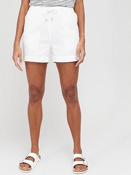 V by Very V By Very Linen Mix Shorts - White Picture