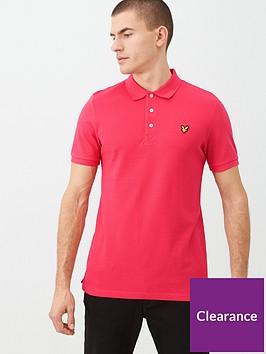 lyle-scott-plain-polo-shirt-pink