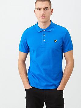 Lyle & Scott Lyle & Scott Plain Polo Shirt - Cobalt Picture