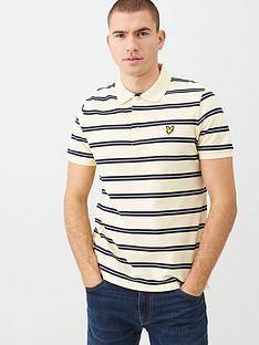 lyle-scott-wide-double-stripe-polo-shirt-buttercream