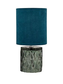 Very Textured Glass Base Table Lamp Picture