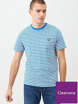 lyle-scott-stripe-t-shirt-royal-blue
