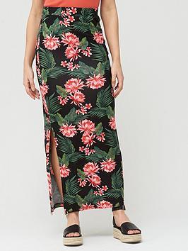 v-by-very-split-side-jersey-maxi-skirt-black-print
