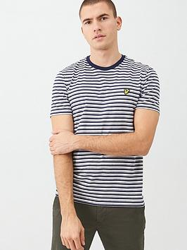 Lyle & Scott Lyle & Scott Stripe T-Shirt - Navy Picture