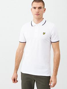 lyle-scott-seasonal-tipped-polo-shirt-white