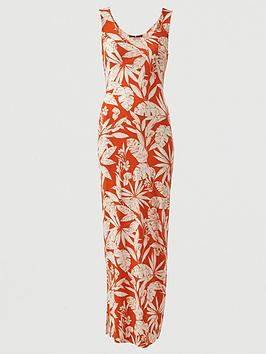 V by Very V By Very Scoop Neck Jersey Maxi Dress - Orange Print Picture