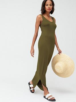V by Very V By Very Scoop Neck Jersey Maxi Dress - Khaki Picture