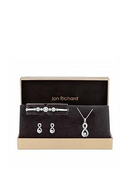 Jon Richard Jon Richard Silver Plated Crystal Infinity Jewellery Set Picture