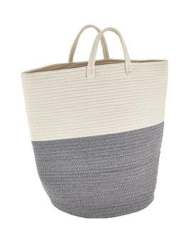 Very Cotton Rope Laundry Basket Picture