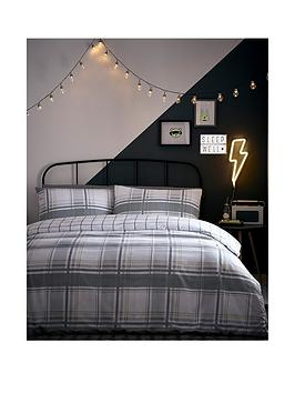 Appletree Appletree Charlie Check Duvet Set - Single - Single Picture