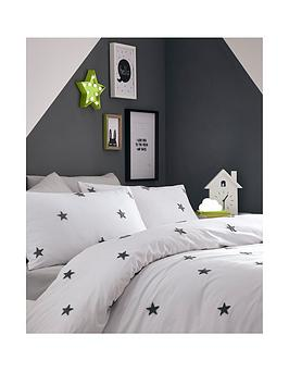 appletree-tufted-star-duvet-cover-set-grey