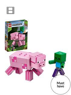 lego-minecraft-21157-bigfig-pig-with-baby-zombie-figures