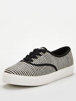 V by Very V By Very Minnie Weave Lace Up Trainer - White Picture