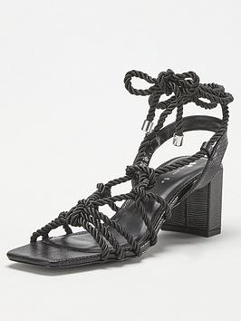 V by Very V By Very Belina Tie Leg Rope Heel Sandal - Black Picture