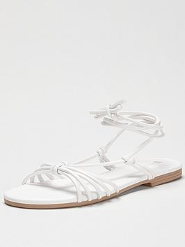 V by Very V By Very Harlene Barely There Flat Sandal - White Picture
