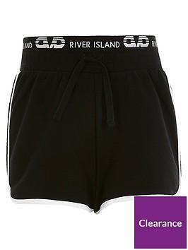 river-island-girls-waistband-runner-shorts--nbspblack