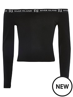 river-island-girls-long-sleeve-bardot-top--nbspblack