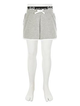 River Island River Island Girls Jersey Lounge Shorts - Grey Picture