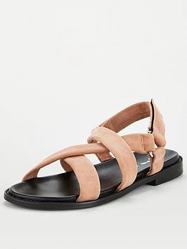 V by Very V By Very Harleigh Real Suede Strappy Footbed Sandal - Mink Picture