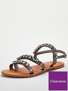 v-by-very-halt-leather-embellished-sandal-pewter