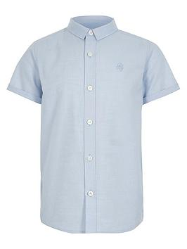 River Island River Island Boys Short Sleeve Twill Shirt - Blue Picture