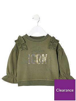 river-island-mini-mini-girls-borderie-frill-sweatshirt-khaki