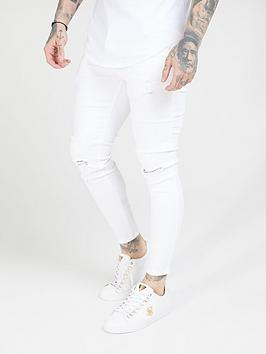 sik-silk-distressed-skinny-jeans-white
