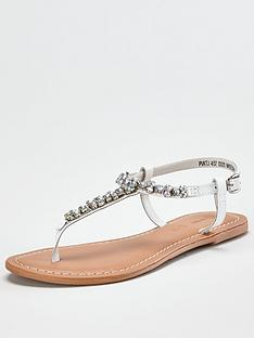 v-by-very-harlem-leather-diamante-toe-post-sandal-white
