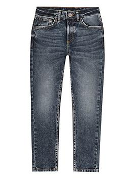 River Island River Island Boys Sid Skinny Jeans - Dark Blue Picture