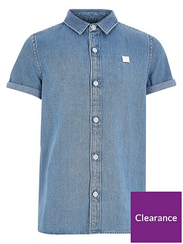 river-island-boys-short-sleeve-denim-shirt-blue