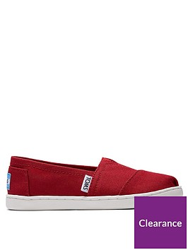 toms-boysnbspalpargata-canvas-shoe-red
