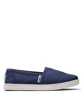 TOMS Toms Boys Alpargata Canvas Shoes - Navy Picture