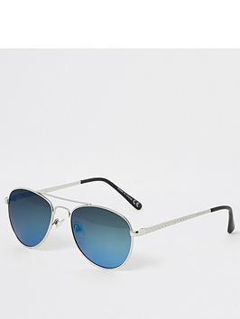 river-island-boys-mirrored-aviator-sunglasses-blue
