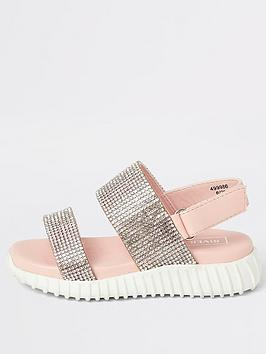 River Island Mini River Island Mini Mini Girls Diamante Chunky Sole  ... Picture