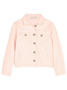 Mintie by Mint Velvet Mintie By Mint Velvet Girls Denim Jacket - Pink Picture