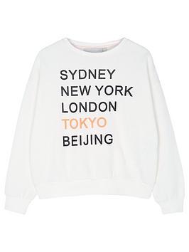 Mintie by Mint Velvet Mintie By Mint Velvet Girls Cities Names Sweatshirt  ... Picture