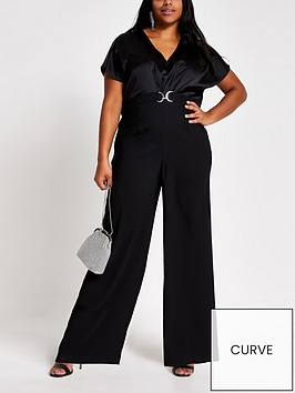 ri-plus-snaffle-front-cape-sleeve-jumpsuit--black
