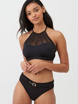 Pour Moi Pour Moi Space High Neck Underwired Cami Top - Black Picture