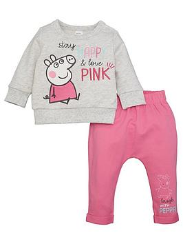 Peppa Pig Peppa Pig Baby Girl Peppa Pig Stay Happy &Amp; Love Pink Top And  ... Picture