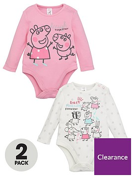 peppa-pig-baby-girl-peppa-pig-2-packnbspbest-friends-forever-bodysuits-multi