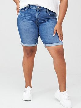 Levi's Plus Levi'S Plus Shaping Bermuda Jean Shorts - Denim Picture