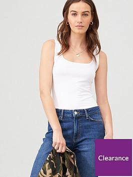 v-by-very-square-neck-basic-vest-white