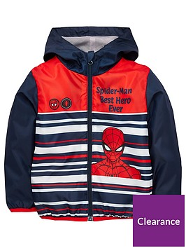 spiderman-boys-spiderman-lightweight-coat-navy