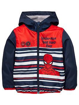 Spiderman Spiderman Boys Spiderman Lightweight Coat - Navy Picture