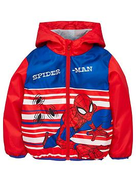 Spiderman Spiderman Boys Spiderman Lightweight Coat - Red Picture