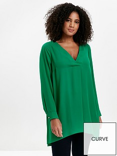 evans-long-sleeve-cross-front-top-green